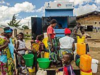 Wasserstation für sauberes Wasser